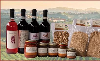"""DAY - Scatola """"tasting box"""" con 1 bottiglia per tipo di vino (in totale 4) e tris di nocciole tostate (intere, farina e granella ) + 1 bottiglia della Follia Magnum + prima colazione + degustazione completa con visita alla cantina e ai vigneti biologici / """"Tasting box"""" with 1 bottle for each kind of wine (4 in total) and trio of toasted hazelnuts (whole, flour and grain) + 1 bottle of Follia Magnum + breakfast + complete tasting with visit to the cellar and organic vineyards € 95"""